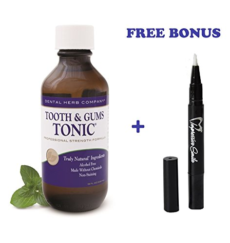 Image of Tooth and Gums Tonic 18oz Bottle + Free Teeth Whitening Pen