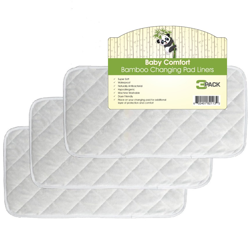 Image of Superior Quality Bamboo Changing Pad Liners PK/3