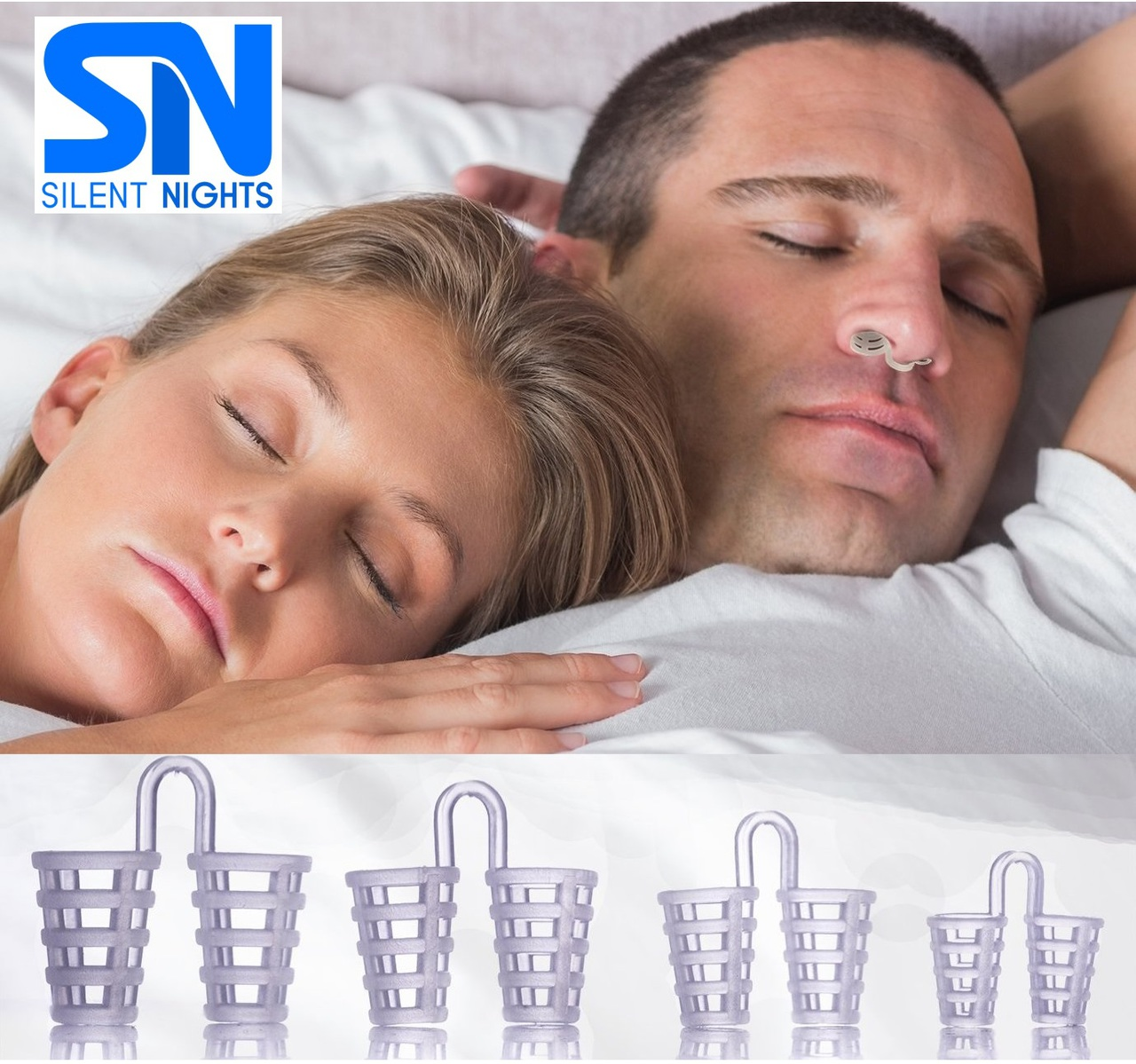 Image of Silent Nights - Nose Vents PK/4 Stop Snoring Solution – Instant Relief