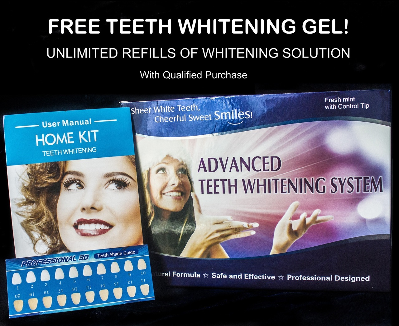 Image of Advanced Teeth Whitening Kit with Unlimited Free Refills - Best Teeth Whitening at Home
