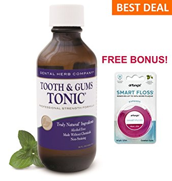 Image of Tooth and Gums Tonic 18oz Bottle and FREE Dr. Tung Smart Floss
