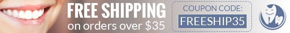 Free Shipping on Orders Over $35 @ ImpressiveSmile.com by Impressive Dental